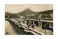 Giclee Print: 'Promenade Pier, Cape Town', c1900 : 18x12in Winter Cape, Cape Town, Framed Artwork, Find Art, South Africa, Paris Skyline, Giclee Print, History, Poster