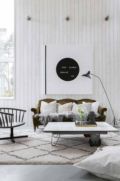 Una casa de estilo boho e industrial #hogarhabitissimo #organic #alfombra
