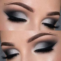 21 Insanely Beautiful Makeup Ideas for Prom Dramatic Black and Silver Prom Eye Makeup Look Prom Eye Makeup, Homecoming Makeup, Prom Makeup Looks, Eyeshadow Makeup, Eyeliner, Hair Makeup, Makeup Hairstyle, Eyeshadows, Hairstyle Ideas