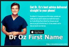 Dr Oz First Name