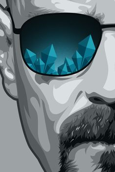 Breaking Bad Fan Art / Heisenberg on Behance Breaking Bad Poster, Affiche Breaking Bad, Breaking Bad Art, Breking Bad, Bad Fan Art, Citations Film, Walter White, Film Serie, Pop Art