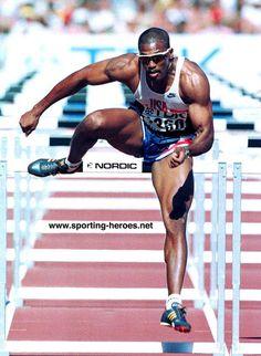 Roger Kingdom 110m Hurdles, Triple Jump, Pole Vault, Racing Events, Long Jump, Olympic Athletes, World Of Sports, Sports Stars, Sports Photos