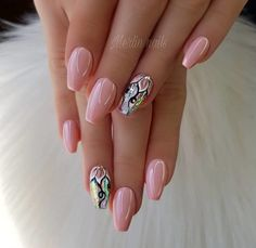 Gel Nail trends These days, a flowery manicure may be a should for several women. Of course, the wonders that trendy gel manicure suggests area Cute Nails, Pretty Nails, My Nails, Long Nails, New Nail Designs, Nail Polish Designs, Nail Trends 2018, Nailed It, Uñas Fashion