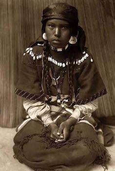 Beautiful Kalispel Indian girl. SW United States, 1910.