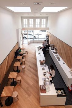 Shop + sf modern cafe saint frank coffee in san francisco restaurant カ ウ ン Restaurant Design, Restaurant Berlin, Deco Restaurant, Restaurant Ideas, Modern Restaurant, Restaurant Chairs, Coffee Shop Interior Design, Coffee Shop Design, Modern Interior Design