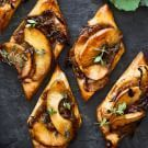 Try the Caramelized Onion and Apple Tarts with Gruyère and Thyme Recipe on williams-sonoma.com/