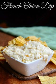 French Onion Dip | from willcookforsmiles.com #dip #frenchonion