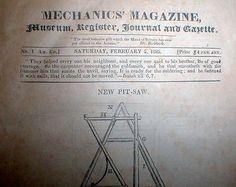 1825-MECHANICS-MAGAZINE-New-York-City-1-issue-Similar-to-SCIENTIFIC-AMERICAN