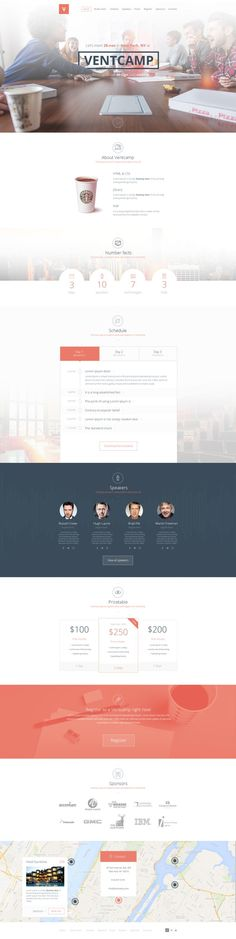 Ventcamp Event Site by Nikita Abramenkov | UI Inspiration | Pinterest