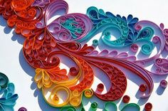 quilled abstract -- I love the attention to detail.