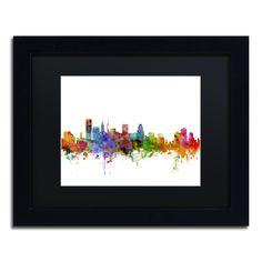 Michael Tompsett 'Baltimore Maryland Skyline' Matte, Framed Canvas Wall Art