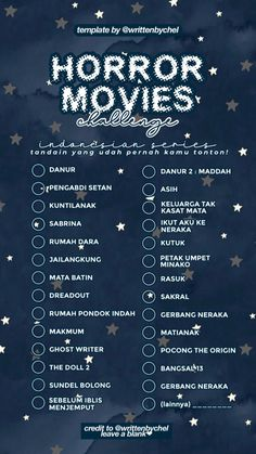 "tag your ""horror movie challenge"" Movie To Watch List, Good Movies To Watch, Instagram Story Questions, Instagram Story Ideas, Cute Couple Quotes, Love Quotes, Quotes Quotes, Bingo Template, Templates"