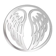Ernest Jones - Lucet Mundi silver tone wings coin - small