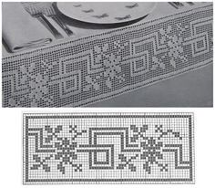 ideas for knitting charts patterns quilts Filet Crochet, Crochet Borders, Crochet Cross, Crochet Art, Crochet Motif, Crochet Doilies, Crochet Stitches, Crochet Patterns, Crochet Curtains