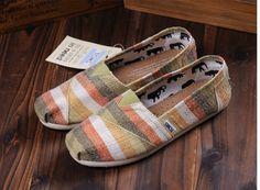 Toms Color Matching Women Shoes Khaki
