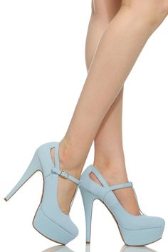 Light Blue Faux Leather T Strap Mary Jane Platform Heels @ Cicihot Heel Shoes online store sales:Stiletto Heel Shoes,High Heel Pumps,Womens High Heel Shoes,Prom Shoes,Summer Shoes,Spring Shoes,Spool Heel,Womens Dress Shoes