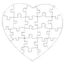 puzzle cut out template - heart puzzle template cut out google search church
