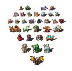 Title:Lordmancer characters Pixel Artist:Gas 13