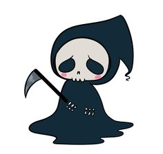 Chama S Art Transparent Tiny Reaper For Your Blog U V U Cute Cartoon Drawings Cute Fantasy Creatures Art