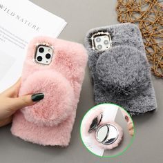 5.1US $ 1% OFF|Girl Glitter Mirror Fur Phone Case for IPhone 11 Pro Max XS XR X 12 Mini Warm Furry Fluffy Cover for iPhone 6 6S 7 8 Plus SE2|Phone Case & Covers|   - AliExpress