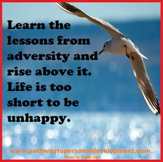 Learn the lessons from adversity, and rise above it. Life is too short to be unhappy. #p2pdevelopment