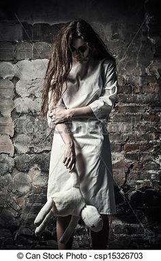 Photo - horreur, Style, shot:, effrayant, monstre, girl, moppet, poupée, mains - image, images, photo libre de droits, photos sous licence, photographie, photographies, graphique, graphiques