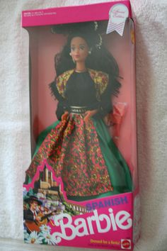 """Mattel """"Spanish Barbie"""" Dolls of the World Collection #4963 Special Edition"""