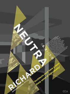 richard neutra architecture poster