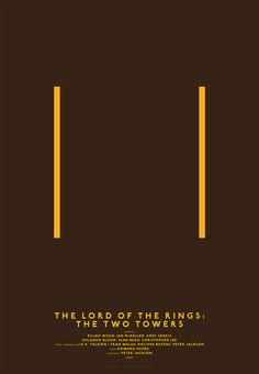 12: The Lord of the Rings: The Two Towers | Minimalist Posters That Reduce Your Favorite Movies To Basic Shapes | Co.Design: business + innovation + design