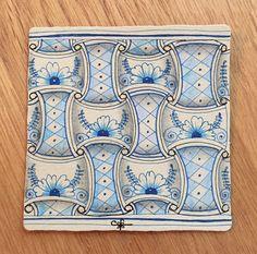 https://flic.kr/p/21ne3Mu | Delft Delights | 3.5 inch square tile.