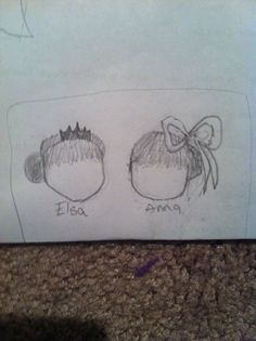 Coronation day hairstyles Elsa on the left, Anna on the right Drawn by Ravza Aykan (RA)