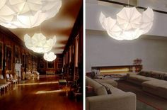 Beautiful lighting concept by Steven Haulenbeek, made from simple white photographers' translucent umbrellas.