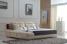 Самые продаваемые кожа каркас кровати и кожа 0414-B809