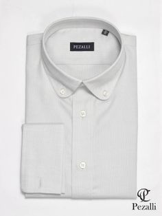 100 Egyptian Cotton Shirt In Soft Pastel Blue With Wide
