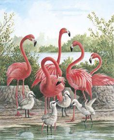 Pink FLamingo Birds Cross Stitch Pattern***L@@K***