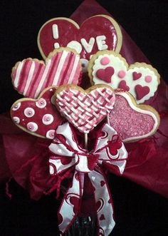 V-Day Cookie Bouquet