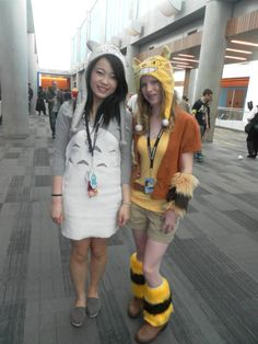 Totoro and Catbus girls! by MollyMadhouse.deviantart.com on @DeviantArt