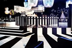 "The 2011 Emmy Governors Ball had the theme of ""mod illusions"" with a 1960s-style black-and-white decor scheme that hearkened back to the era of Truman Capote's famous bash. Photo: Nadine Froger Photography"