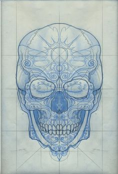 skull study, by joseph gilland. #skull #drawing