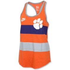Clemson Tigers Ladies Nike Team Stripe Tank Top