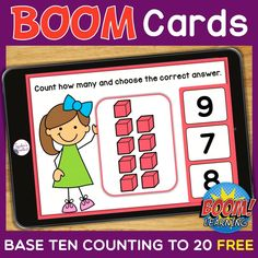 THIS IS AN INTERACTIVE DIGITAL RESOURCE. Download the preview to play a shortened version of the Boom Deck – this will help you decide if the resource is suitable for your students.  ABOUT THIS BOOM DECK: Students will count base ten blocks up to 20, determine the number represented, and choose the correct answer.