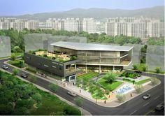 센터 현상 - Google 검색 Concept Models Architecture, Futuristic Architecture, School Architecture, Architecture Design, Plaza Design, Mall Design, Site Development Plan, Urban Design Concept, Landscape Design Plans
