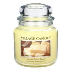 Village Candle Medium Jar - Lemon Pound Cake