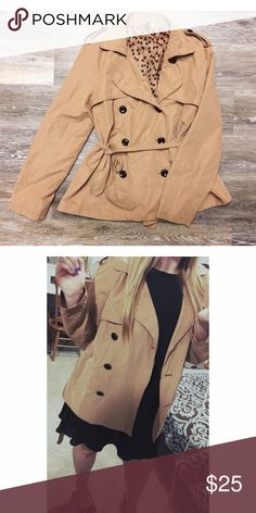 H&M Trench Coat Gorgeous Trench Coat from H&M. It is beige in color. It is in great condition, I am just selling it because it is too big for me. Would be a great addition to anyone's closet! Divided Jackets & Coats Trench Coats