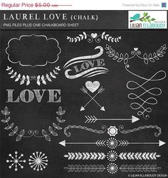 50OFF Laurel Love Chalk laurel chalky by LilianEllaboudyDesgn, $2.50
