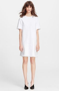 T by Alexander Wang Frayed Burlap Cotton Dress available at #Nordstrom