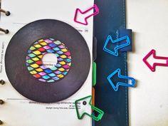 From My Etsy Shop thatsplantastik.etsy.com --- Vintage Retro Colorful LP Music discs dashboards inserts