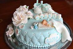 Jeg var så heldig å bli spurt om å lage dåpskaken til lille Markus, selv om jeg sa ifra at jeg aldri har laget en slik kake før :) Det er...