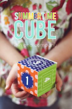 Summertime Cube and Activities at Design Dazzle's Summer Camp