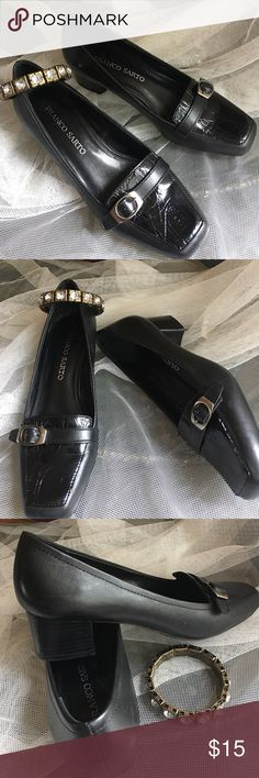 Franco Sarto Black buckled details shoes size 7.5 Pre-owned but still in great condition, Classic style Black heels shoes by Franco Sarto size 7.5 Franco Sarto Shoes